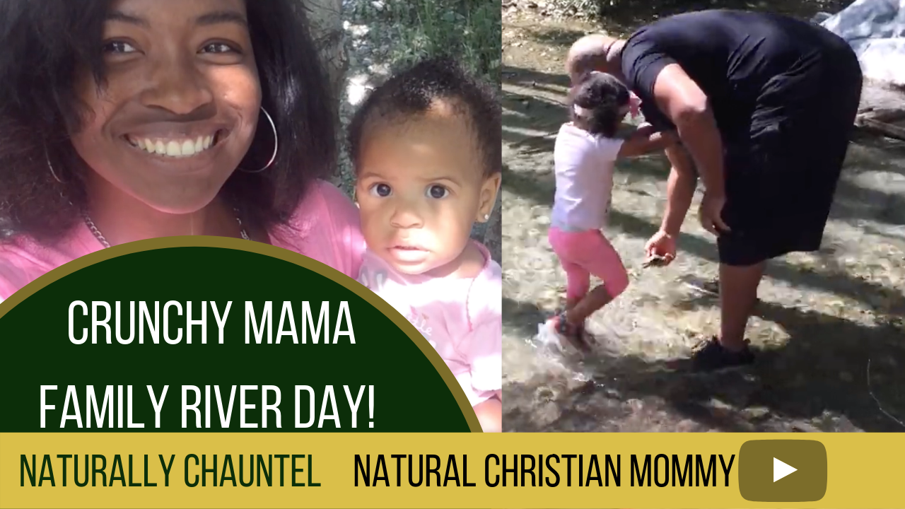 Crunchy Mommy and Daddy Hiking to the River with Toddler & Baby (Mom Influencer) Naturally Chauntel